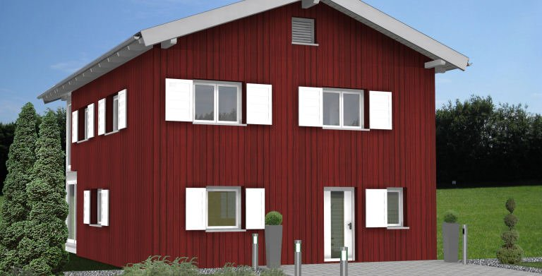 Planungsbeispiel Einfamilienhaus 152H20 - Ansicht Nordseite Copyright: Bio-Solar-Haus