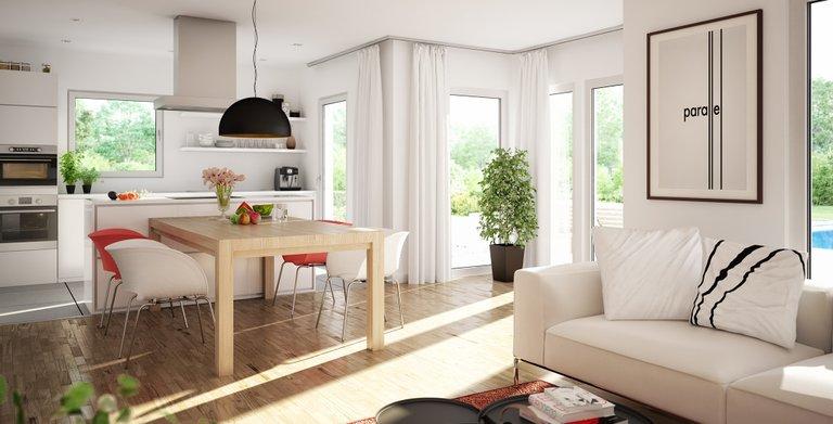 Wohnbeispiel Wohnküche Copyright: © Living Haus 2019