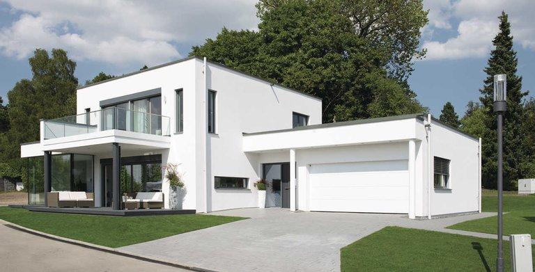 Modernes Ausstellungshaus im Bauhausstil Copyright: WeberHaus