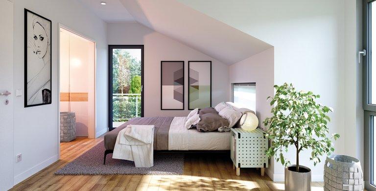 Wohnbeispiel Schlafzimmer Copyright: © Living Haus 2017