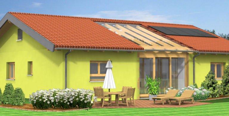 Planungsbeispiel Bungalow 140H10 von Bio-Solar-Haus