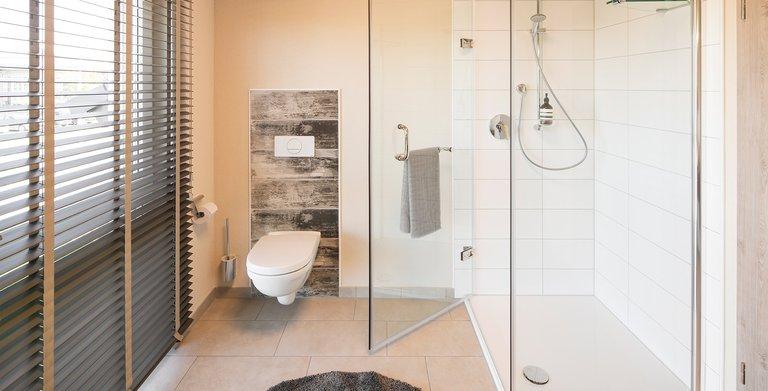 Badezimmer im Erdgeschoss Copyright: FingerHaus