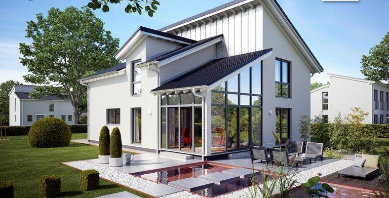 Moderne Architektur mit dem Architektenhaus Akzent von Kern-Haus Copyright:
