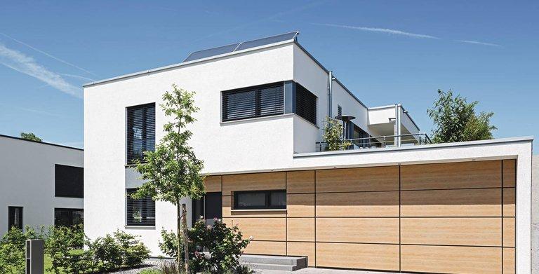 frei geplantes architektenhaus im modernen bauhausstil von weberhaus gmbh co kg hausbaubuch. Black Bedroom Furniture Sets. Home Design Ideas