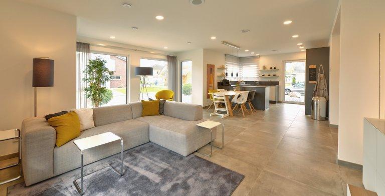 Wohnbeispiel Wohnzimmer Copyright: © Living Haus 2017