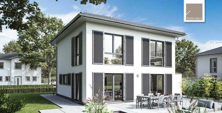 Stadtvilla Pura von Kern-Haus Gartenseite Copyright: