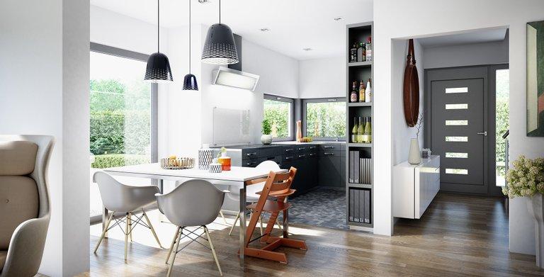 Wohnbeispiel Küche Copyright: © Living Haus 2019