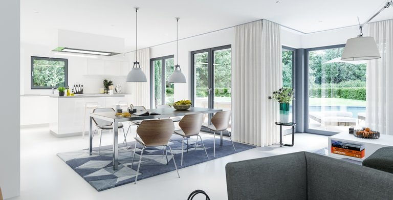 sunshine 143 v7 von living fertighaus gmbh wohngl. Black Bedroom Furniture Sets. Home Design Ideas