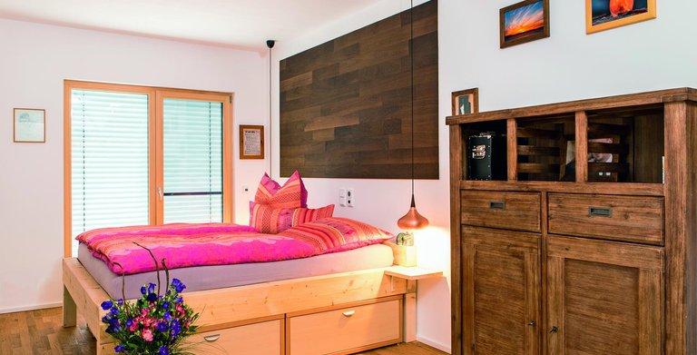 Naturholzhaus Martha Schlafbereich Copyright: