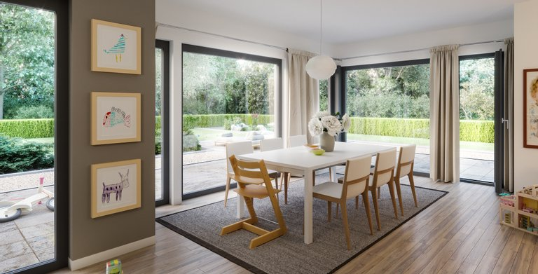 sunshine 144 v4 von living fertighaus gmbh fertigh user und massivh user. Black Bedroom Furniture Sets. Home Design Ideas