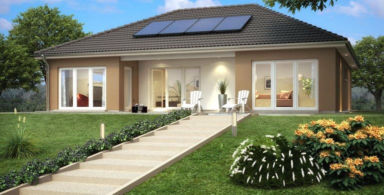 bungalow sh 146 b von scanhaus marlow gmbh wohngl. Black Bedroom Furniture Sets. Home Design Ideas