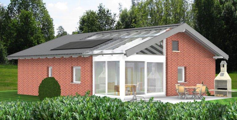 Planungsbeispiel Bungalow 106H10 von Bio-Solar-Haus
