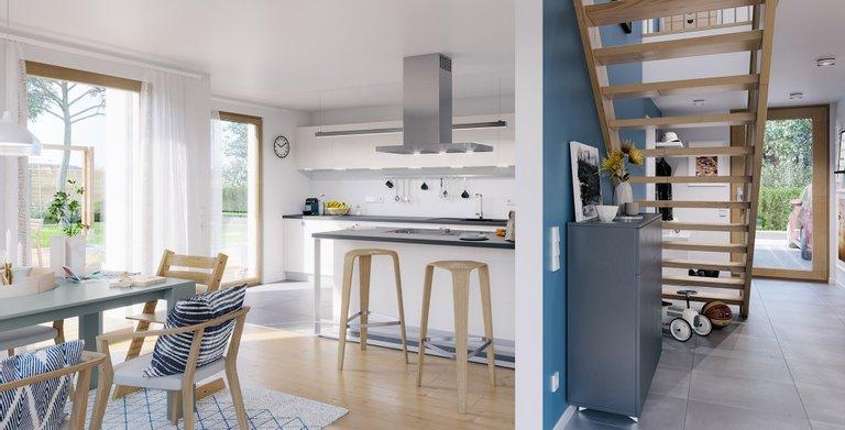 Wohnbeispiel Wohn-Esszimmer Copyright: © Living Haus 2019