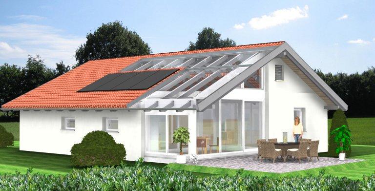 Planungsbeispiel Bungalow 108H10 von Bio-Solar-Haus