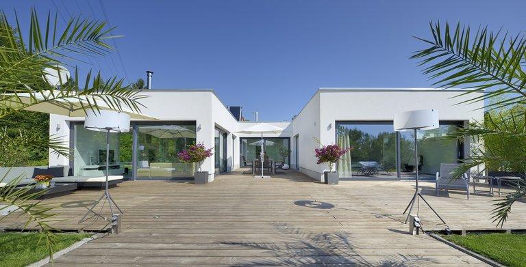 Heinz von Heiden Individualplanung U-Bungalow 150 m² von Heinz von Heiden GmbH Massivhäuser