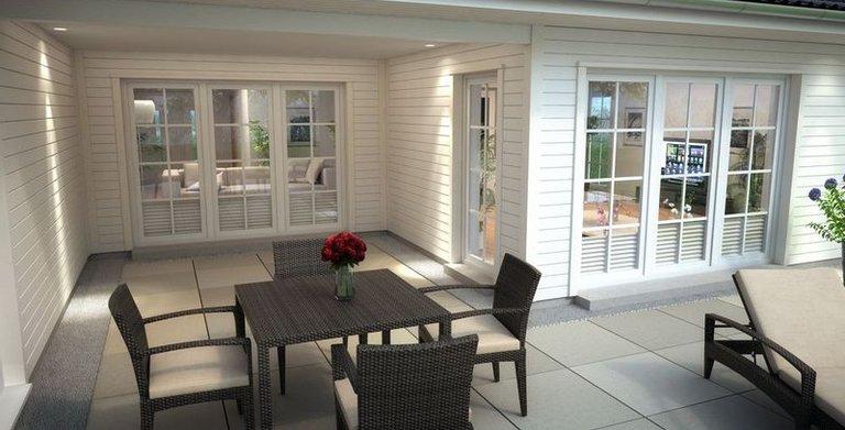 bungalow sh 169 wb von scanhaus marlow gmbh fertigh user und massivh user. Black Bedroom Furniture Sets. Home Design Ideas