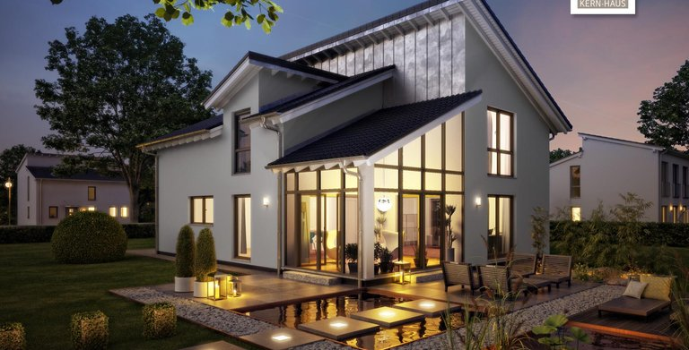 Noch mehr Raum für außergewöhnliche Wohnwelten mit dem Architektenhaus Akzent von Kern-Haus Copyright: