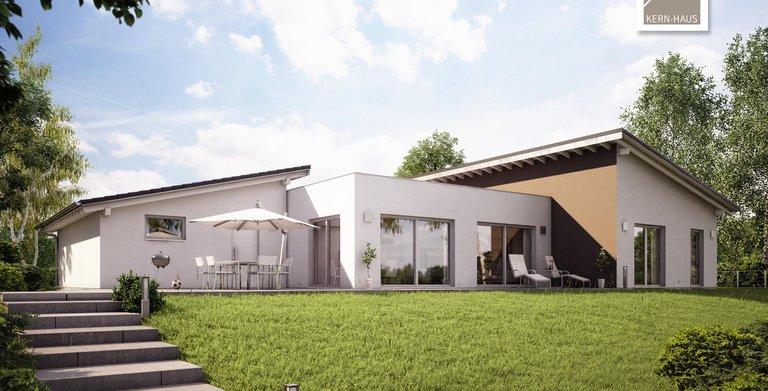 Kern-Haus Bungalow Trio Gartenansicht Copyright: