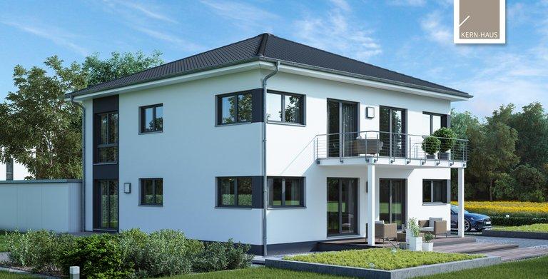 Kern-Haus Zweifamilienhaus Duplea Gartenseite Copyright: