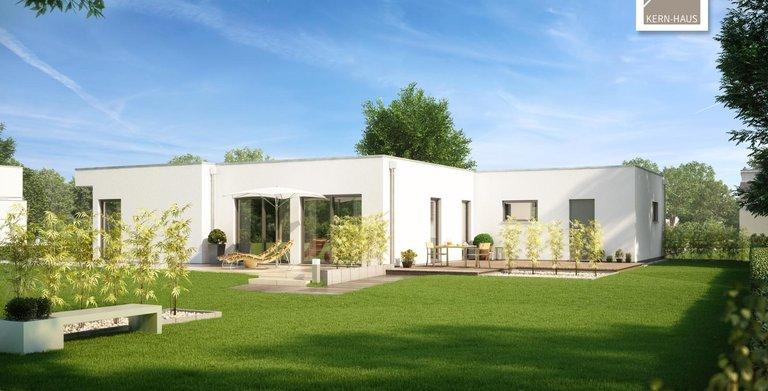 Kern-Haus Bungalow Purea Garten Seite Copyright: