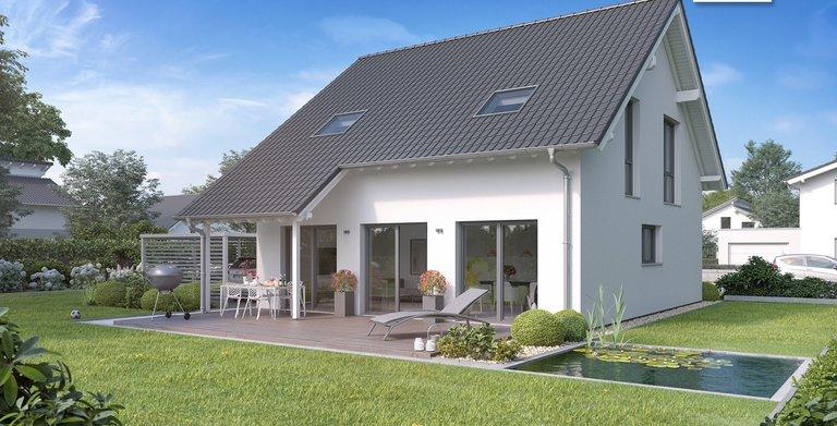 Kern-Haus Familienhaus Jano Gartenseite Copyright: