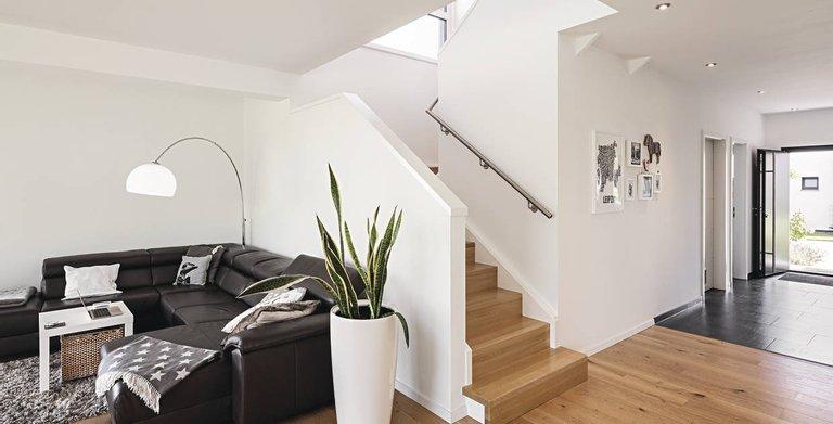 frei geplantes architektenhaus im modernen bauhausstil von weberhaus gmbh co kg wohngl. Black Bedroom Furniture Sets. Home Design Ideas
