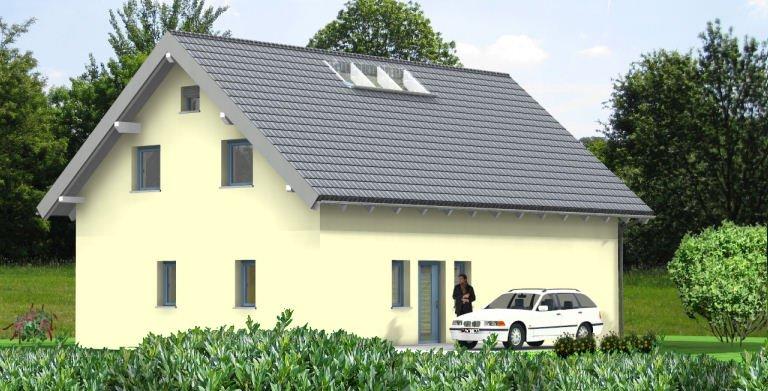 Planungsbeispiel Einfamilienhaus 158H15 - Ansicht Nordseite Copyright: Bio-Solar-Haus