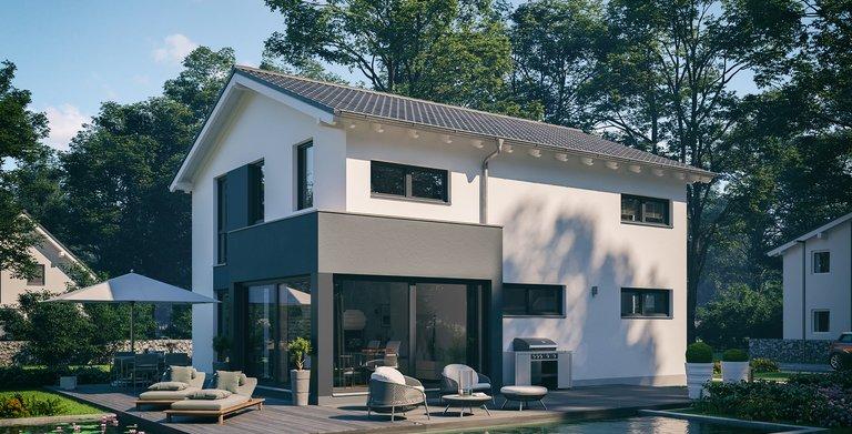 Architektenhaus Allea von Kern-Haus Gartenseite Copyright: