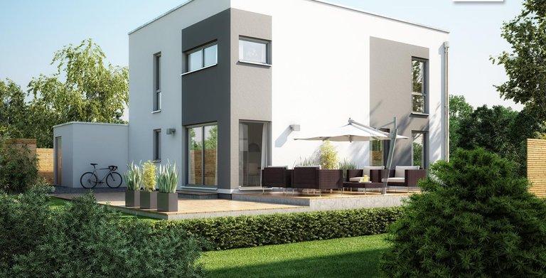 Kern-Haus Bauhaus Etos Gartenansicht Copyright: