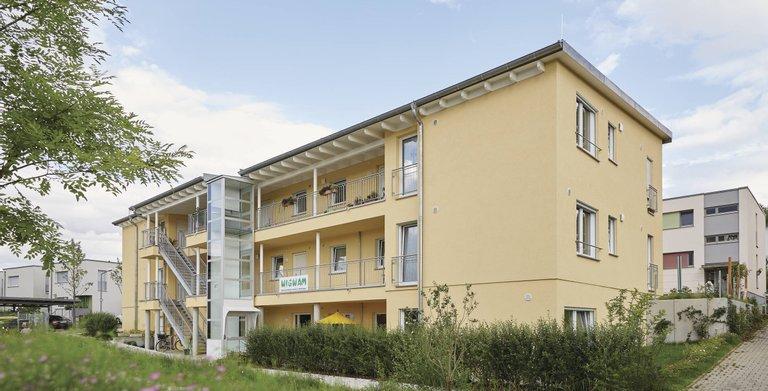 Barrierefreies Wohnen in einem WeberHaus Mehrfamilienhaus Copyright: WeberHaus