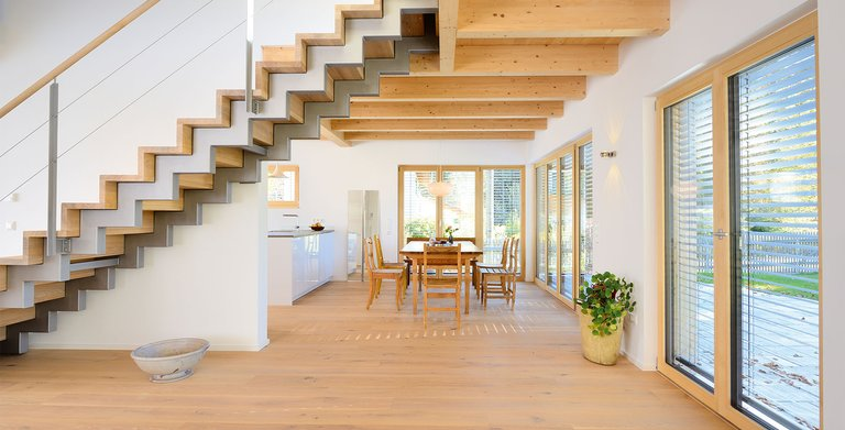 Naturholzhaus Rombach Essbereich Copyright: