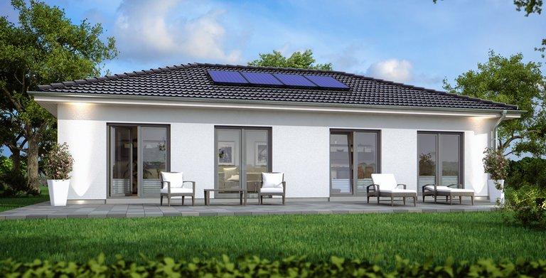 bungalow sh 100 b variante b von scanhaus marlow gmbh. Black Bedroom Furniture Sets. Home Design Ideas