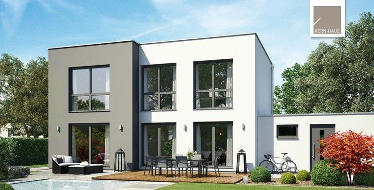 Atemberaubende Architektur, nicht nur für Designer. Das Bauhaus Modus von Kern-Haus mit Gartenansicht Copyright: