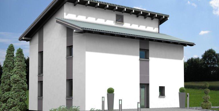 Planungsbeispiel Einfamilienhaus 139H20 - Ansicht Nordseite Copyright: Bio-Solar-Haus